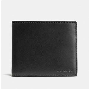 COACH | Men's Black Leather Wallet NWT